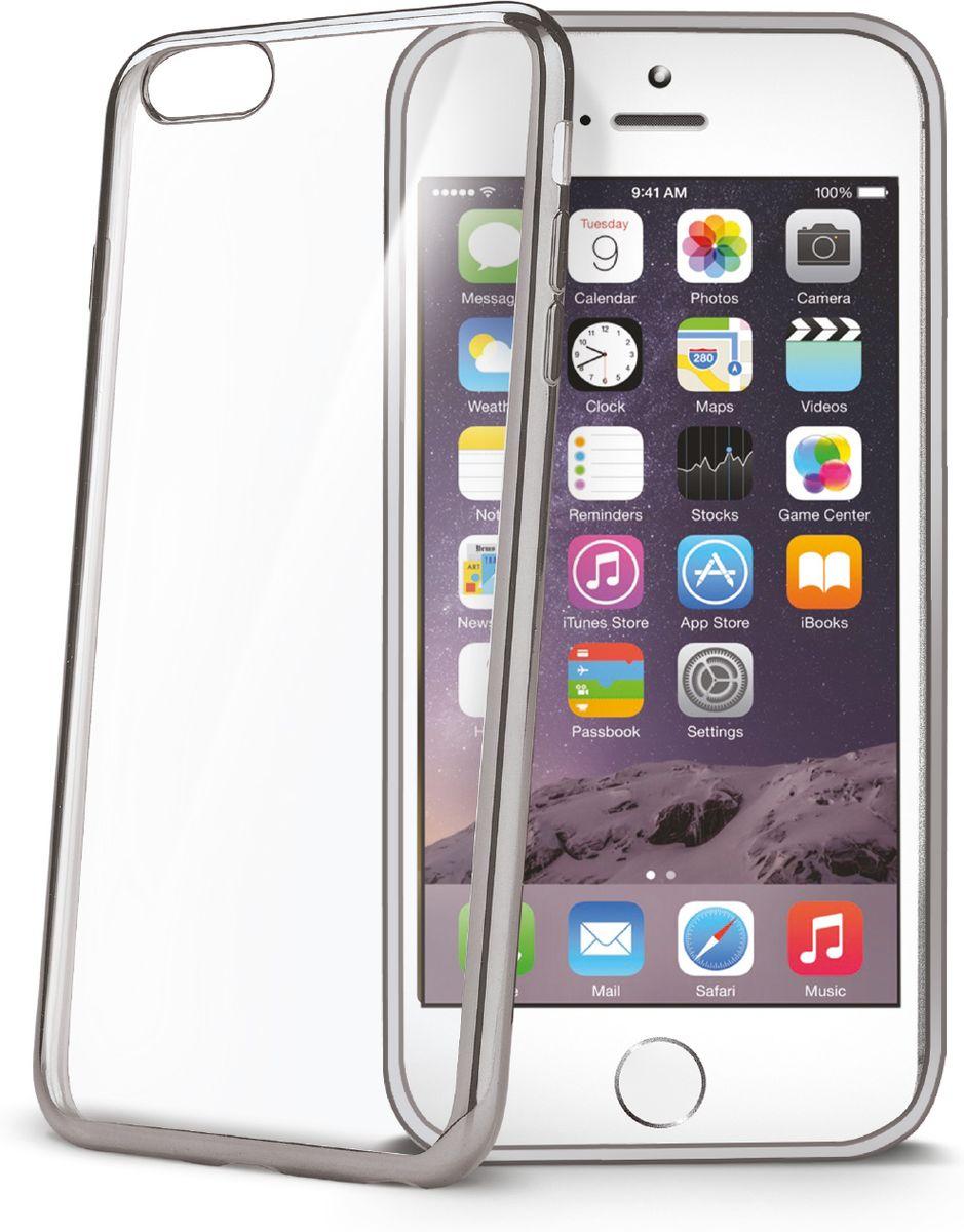 Celly Laser чехол для Apple iPhone 6/6s, Silver ClearBCLIP6SSVЧехол-накладка Celly Laser для Apple iPhone 6/6s представляет собой мягкую прозрачную крышку с эффектом металла по окантовке. Отлично подходит для вашего смартфона защищая его от ударов. Толщина 0,7 мм.