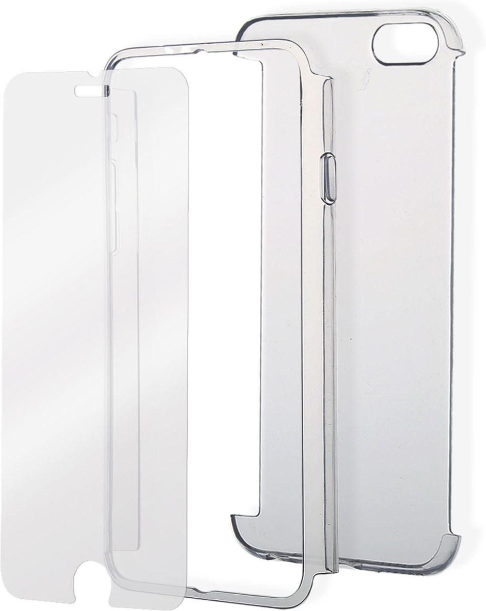 Celly Body IP6S чехол для Apple iPhone 6/6s, ClearBODYIP6SЧехол Celly Body IP6S для Apple iPhone 6/6s полностью защищает ваш смартфон: 360° защиты по краям, на передней и задней поверхности. Состоит из 3-х частей: задняя и передняя накладки выполнены из прозрачного прочного поликарбоната + закаленное стекло для дисплея. Чехол обеспечивает свободный доступ ко всем функциональным кнопкам смартфона и камере.
