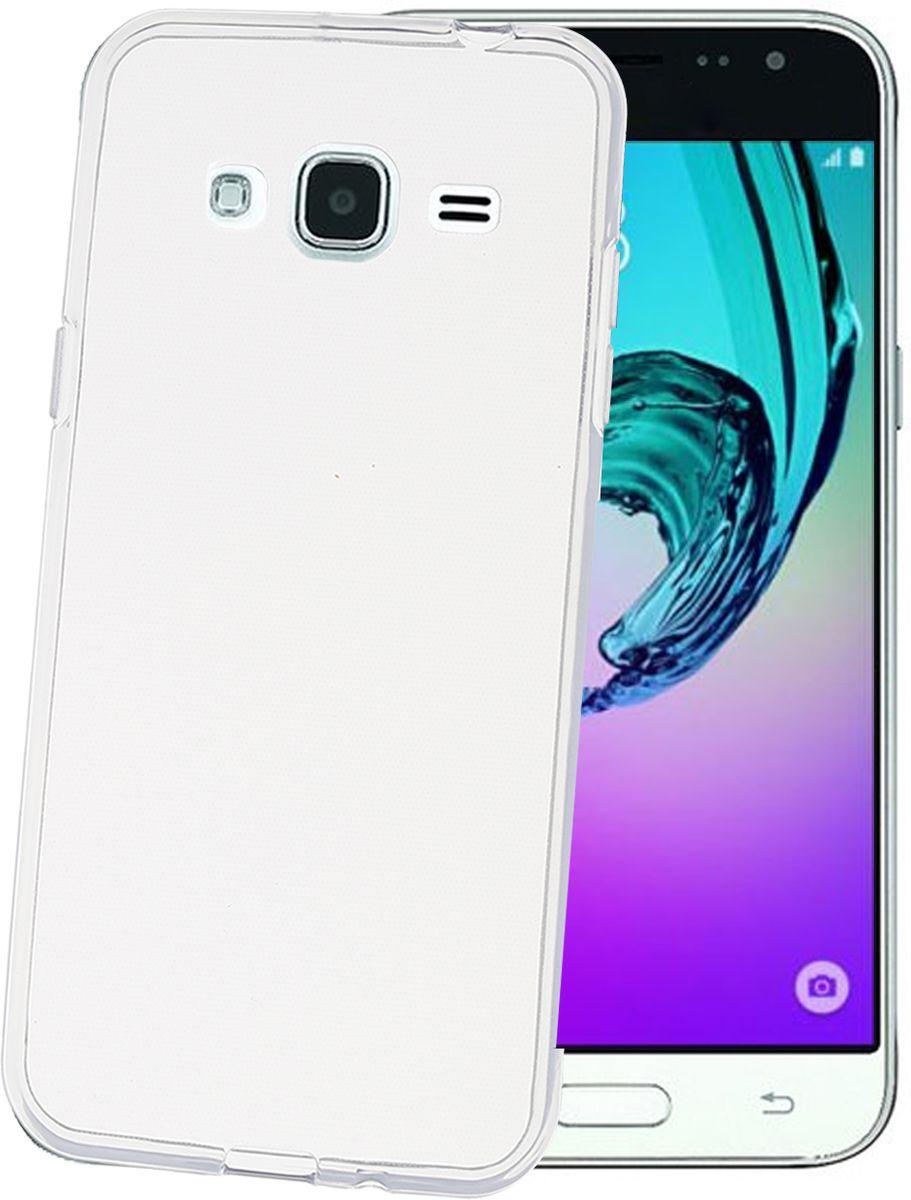 Celly Gelskin чехол для Samsung Galaxy J3, ClearGELSKIN555Прозрачный эластичный чехол-накладка Celly Gelskin для Samsung Galaxy J3 выполнен из противоударного термопластичного полиуретана. Идеальное эргономичное решение для защиты вашего смартфона. Благодаря толщине 0,7 мм он практически не увеличивает размер вашего телефона.