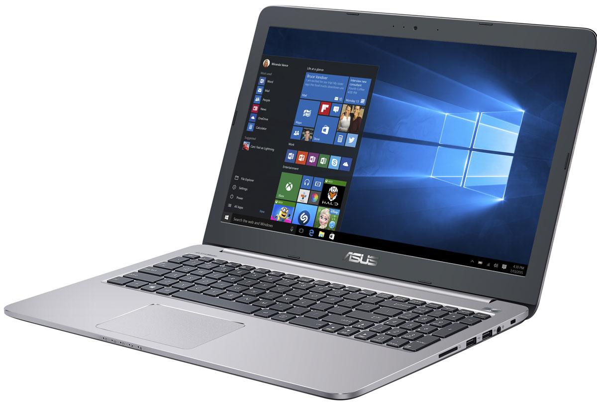 ASUS K501UX, Grey Metal (90NB0A62-M03360)90NB0A62-M03360Надежный и комфортный в работе ноутбук Asus K501UX выполнен в современном корпусе с красивой отделкой.Asus K501UX отлично подходит и для работы с офисными программами, и для запуска мультимедийных приложений. В его аппаратную конфигурацию входят процессоры Intel Core, современное графическое ядро и высокоскоростной интерфейс USB 3.0. Ноутбук гарантирует моментальный выход из режима сна и комфортную работу практически в любых приложениях.Интеллектуальная система двойного охлаждения вентилятора- это модернизированная интеллектуальная система охлаждения с двумя независимыми вентиляторами, обеспечивающими охлаждение процессора и GPU. Эта исключительная система система поддерживает необходимую температуру, чтобы предотвратить перегрев и обеспечить стабильность системы, работаете ли вы на ресурсоемких задачах или играете.Asus IceCool обеспечивает температуру поверхности ноутбука между 28 и 35 градусами, что значительно ниже, чем температура тела, таким образом ваша работа за компьютером будет наиболее комфортной.Высокоскоростной интерфейс USB 3.0 в десять раз быстрее USB 2.0, поэтому он отлично подходит для передачи больших файлов, например, видео высокой четкости, и значительных объемов других данных между устройствами. К примеру, 25-гигабайтный фильм копируется на внешний накопитель всего за 70 секунд!Asus K501UX с его простыми линиями и минималистическим дизайном с металлической отделкой в равной степени подходит для использования как дома так и на рабочем месте. Необходимо отметить такие изысканные штрихи, как пескоструйная обработка поверхностей вокруг клавиатуры, выделенная кнопка питания и алмазная огранка вокруг сенсорной панели.Качество звука обычных ноутбуков ограничено размерами встроенной аудиосистемы. Зачастую звук во всем диапазоне частот генерируются в одном источнике, поэтому ему не хватает глубины. Технология SonicMaster, реализованная в ноутбуках Asus, представляет собой комплекс аппаратных и програ