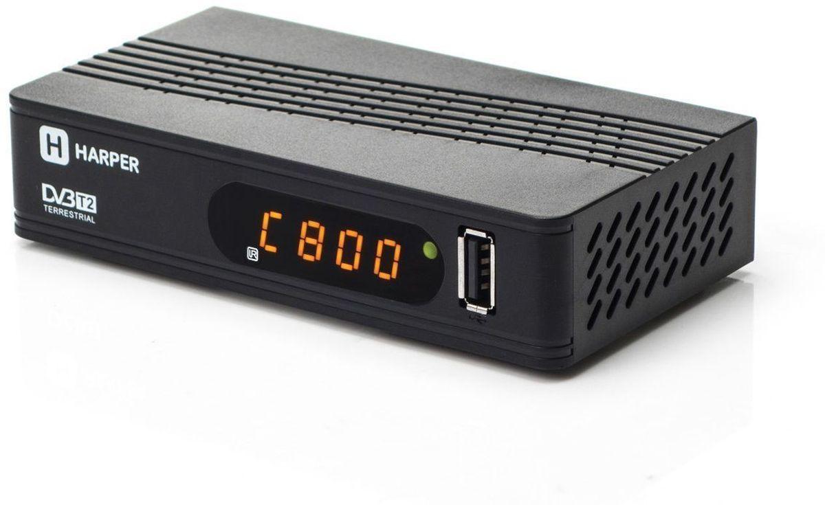 Harper HDT2-1514, Black телевизионный ресивер DVB-T2H00001105Ресивер Harper HDT2-1514 поддерживает цифровой стандарт DVB-T2 с функцией FULL HD, встроенный медиаплеер воспроизводит популярные форматы видео. Разрешение видео: 480i, 480p, 576i, 576p, 720p, 1080i, Full HD 1080p; Поддерживаемые форматы мультимедиа: AVI, MKV, VOB, TS, MPG, MP4, H.264, FLV, 3GP, OGG, MP3, WMA, WAV; Поддерживаемые форматы фото: JPEG, BMP, PNG; Соотношение сторон: 16:9 full screen; 4:3 letter box & pan scan; Поддерживаемые видеостандарты: PAL / NTSC; Поддержка внешних жестких дисков HDD: FAT12/FAT16/FAT32/NTFS; Поддержка Multiple PLP.