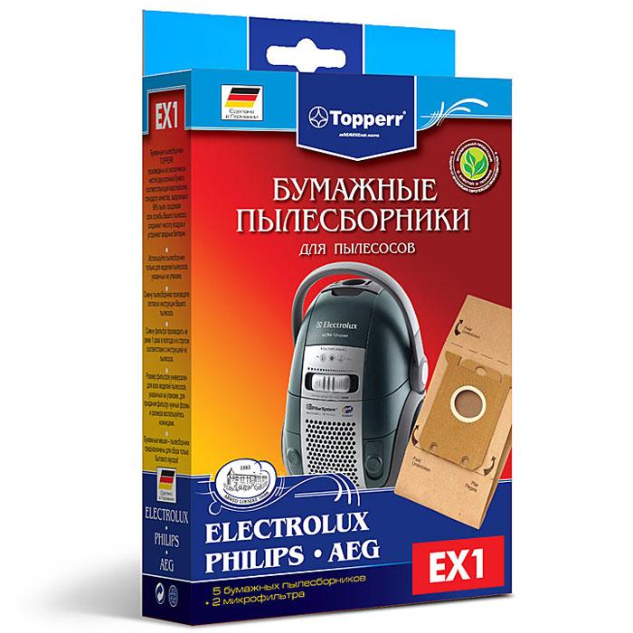 Topperr EX 1 фильтр для пылесосов AEG, Bork, Electrolux, Philips, Zanussi, 5 шт1010Бумажные пылесборники Topperr EX 1 для пылесосов AEG, Bork, Electrolux, Philips, Zanussi изготовлены из экологически чистой двухслойной бумаги, соответствующей европейскому стандарту качества, задерживают 99% пыли, продлевая срок службы пылесоса, сохраняют чистоту воздуха и устраняют вредные бактерии. Модели и серии пылесосов: AEG: Clario AEC7570-AEC7572; Maximus AM, MX; Oxy3 System AOS9300-AOS9352; Oxygen+ AE7300-AE7399; QS Elegance AVQ; System Pro P1-P999; Ultra Silencer AUS4030-AUS4040; Viva Control AVC1100-AVC1230; Viva QuickStop AVQ2100-AVQ2190 Bork: VC SHB 9016, 9118, 9818, 9919 Electrolux: Maximus ZXM 70; Classic Silence ZCS 21; JetMaxx ZJM 68; Essensio ZEO 54; UltraOne Z 88, Z90; Oxygen+ Z 73; Oxygen Z 5; UltraSilencer ZUSG 39, ZUS 39, ZUS 33, Z 33; Ergobox Twintech XXLTT; Clario Z 19, Z 20, Z 75; Clario2 ZP 35; ErgoSpace ZE 22, ZE 3; XXL; Airmax ZAM 61, ZAM 62; CE ZCE 1800, ZCE 2200; Excellio Z 5; Smartvac Z 5; VivaControl ZV 10; ...