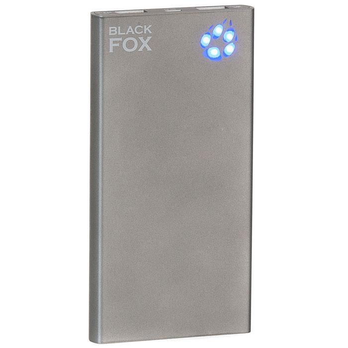 Black Fox BMP100A, Antracite внешний аккумулятор (10000 мАч)BMP100AЛитий-полимерная батарея и два USB-выхода делают модель Black Fox BMP100A практичной для долговременного использования. Кроме того, индикатор уровня заряда в виде лапы подчеркивает индивидуальный стиль данного устройства. Black Fox BMP100A - это отличный подарок для вас, ваших друзей и близких!