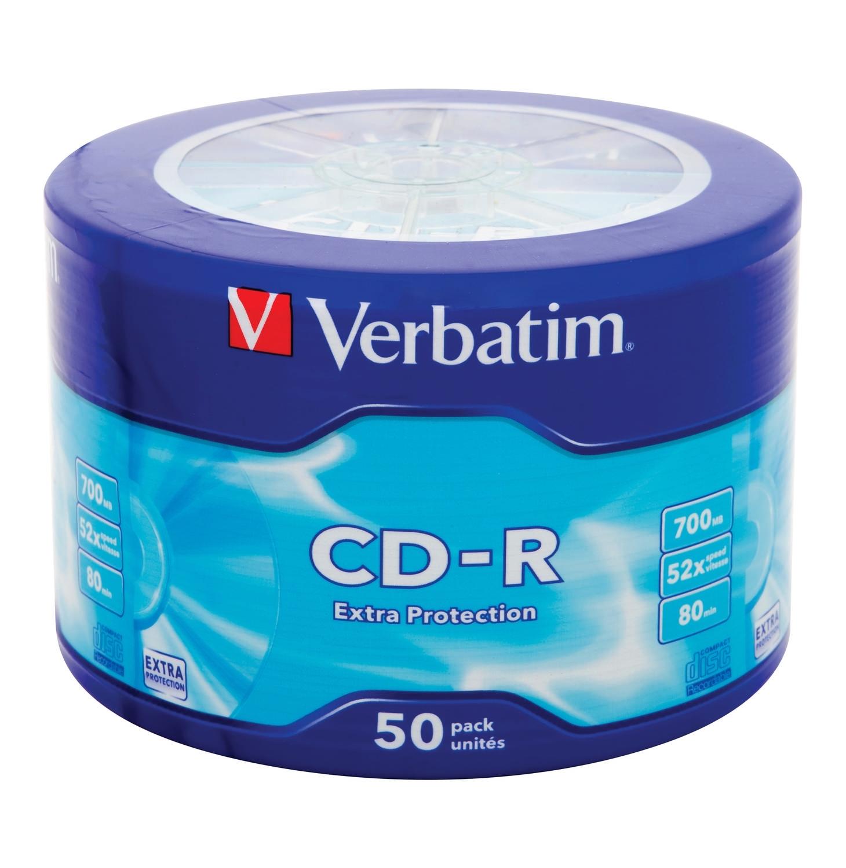Диск CD-R Verbatim 700Mb 52x extra protect wagon wheel, 50 шт (43728)