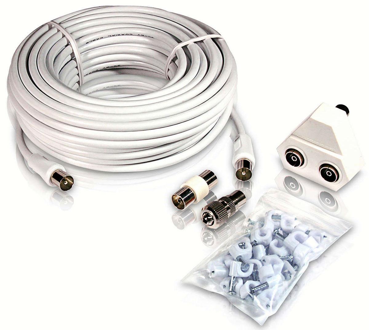 Philips SWV2209W/10 коаксиальный кабель, 15 мSWV2209W/10Никелированные разъемы кабеля Philips SWV2209W/10 позволяют получить устойчивое соединение для надежного подключения. Экранирование неизолированной медью защищает от потери сигнала. Нескользящая ручка делает установку компонентов эргономичной и удобной. Литые штекеры обеспечивают надежное соединение компонентов и дополнительную прочность. Резиновый кабельный зажим Philips SWV2209W/10 обеспечивает безопасное и в то же время гибкое соединение между устройством и разъемом. Медный проводник обеспечивает высокую точность передачи сигнала с минимальным сопротивлением. Разъемы, маркированные разными цветами, облегчают подключение кабелей к необходимым входам и выходам. Адаптер Гнездо (F) - Гнездо (F) прилагается для гибкости при использовании изделия. Гибкая полихлорвиниловая оболочка обеспечивает защиту сердечника кабеля и служит также для дополнительной прочности и удобства установки.