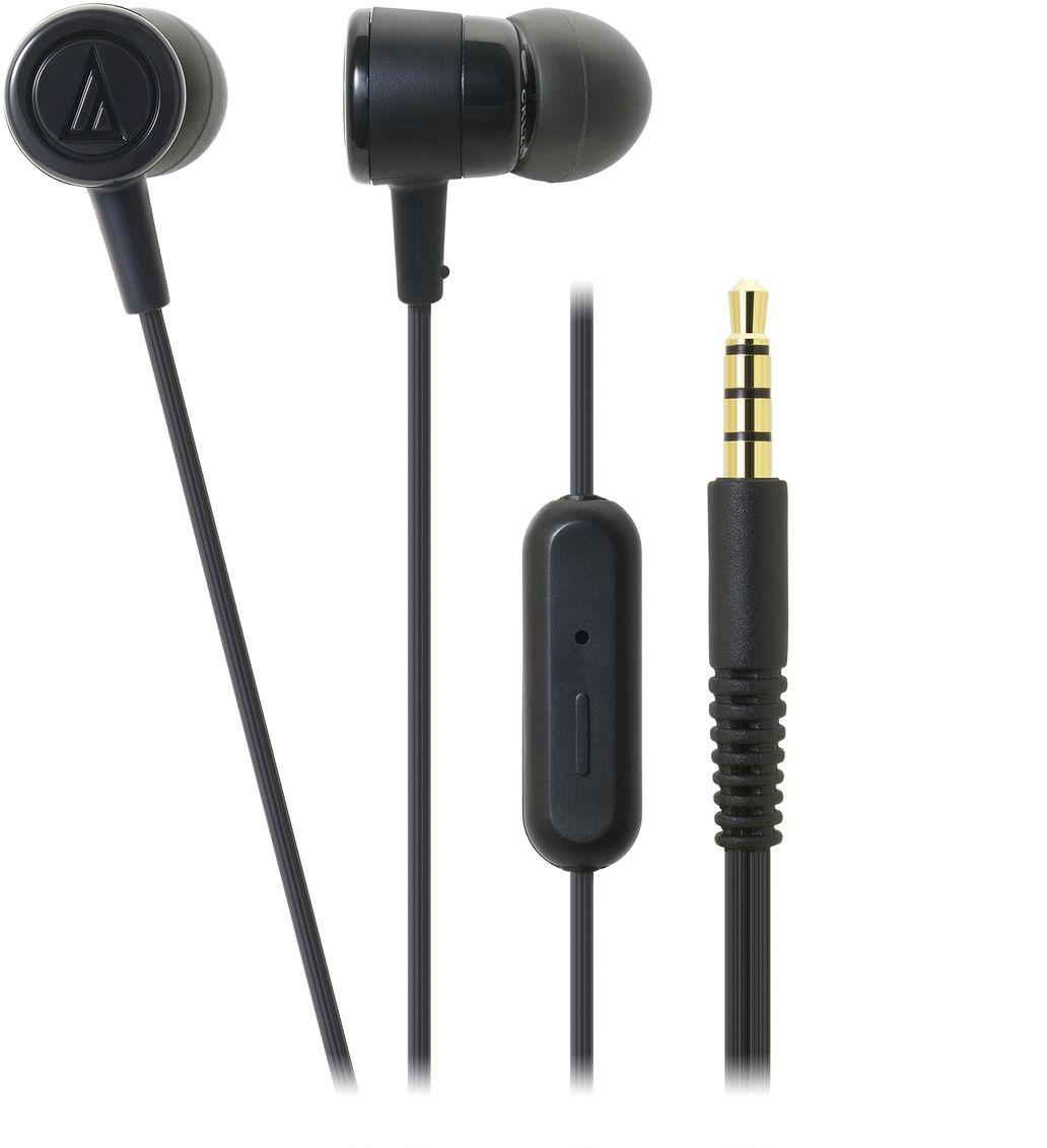 Audio-Technica ATH-CKL220iS, Black наушники15118456Вставные наушники с микрофоном Audio-Technica ATH-CKL220iS являются обновлённой версией модели ATH- CKL202iS. Это универсальные вставки с пассивной шумоизоляцией, предназначенные для каждодневного использования с телефонами, смартфонами и другими гаджетами. Имеется пульт на кабеле с микрофоном и кнопкой, позволяющей принимать звонок и заканчивать разговор, запускать аудио/видео и ставить воспроизведение на паузу. ATH-CKL220iS - стильная, производительная и доступная гарнитура. Тип микрофона: электретный, конденсаторный Диапазон частот микрофона: 100-10000 Гц Чувствительность микрофона: -44 дБ Драйверы диаметром 8,5 мм обеспечивают качественный звук для всех музыкальных жанров Эргономичный дизайн вставных амбушюров гарантирует комфортную посадку Кабель с защитой от спутывания, экранировкой от шумов и механически изменяемой длиной натяжения Четыре пары амбушюров в комплекте