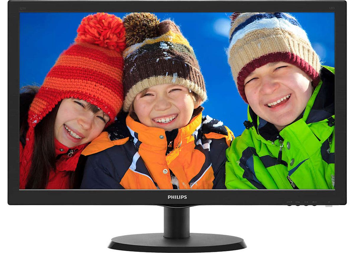 Philips 223V5LHSB2 (00/01) монитор223V5LHSB2 (00/01)Оцените яркое реалистичное LED-изображение на дисплее Philips 223V5LHSB2 с HDMI и функцией SmartControl Lite. Выбор очевиден! SmartContrast — технология Philips, которая анализирует отображаемый контент и автоматически настраивает цвета и интенсивность подсветки для динамичного улучшения контраста. Тем самым обеспечивается оптимальный уровень контрастности и наилучшее качество цифрового изображения, а также большая насыщенность темных оттенков, что особенно важно во время игр. При выборе экономичного режима уровень контрастности регулируется, а подсветка настраивается для оптимальной работы со стандартными офисными приложениями и экономии электроэнергии. Качество изображения играет важную роль. Обычные дисплеи обеспечивают неплохое качество изображения, однако не на самом высоком уровне. Дисплей Philips 223V5LHSB2 оснащен улучшенным разрешением Full HD 1920 x 1080: четкая детализация в сочетании с высокой яркостью, удивительной контрастностью и...