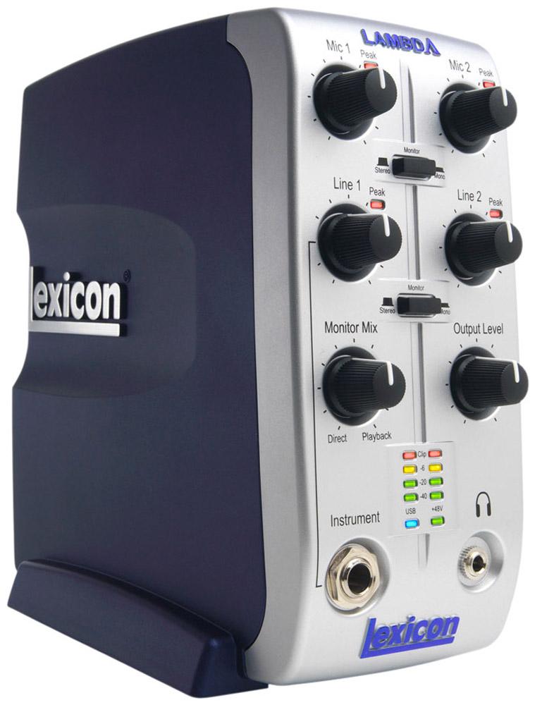Lexicon Lambda аудио-интерфейсLEXLAMBDAVLexicon Lambda - это полноценная студия звукозаписи, предоставляющая возможность аппаратного микширования с помощью USB-микшера (4 входа x 2 шины x 2 выхода). Система включает все необходимое для профессиональной записи в портативном формате, в том числе USB-микшер, MIDI-интерфейс, популярное ПО для многодорожечной звукозаписи на PC и MacR Steinberg Cubase LER и плагин реверберации Lexicon PantheonT VSTT. Lambda оснащена двумя микрофонными входами XLR с разъемами TRS и переключаемым фантомным питанием, а также двумя 1/4 симметричными линейными входами TRS, двумя симметричными линейными выходами TRS, высокомощным 1/8 выходом для наушников на передней панели, инструментальным входом на передней панели и входом/выходом MIDI. Использование Lambda позволяет вести запись одновременно по четырем каналам с частотой дискретизации 44.1 или 48 кГц при разрешении 16 или 24 бита. Пользователи имеют возможность записывать одновременно два трека с входных...