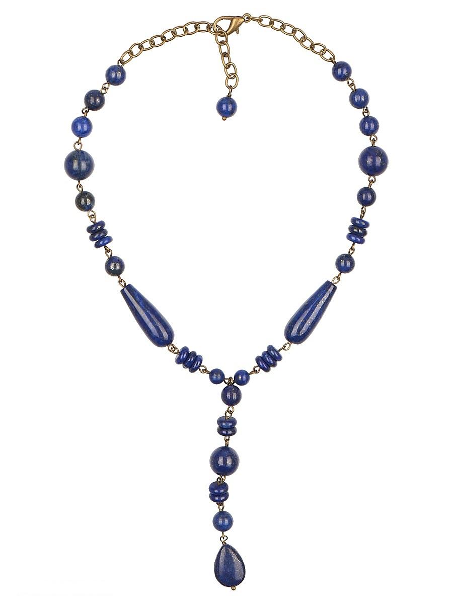 Ожерелье Polina Selezneva, цвет: синий. 001-1709