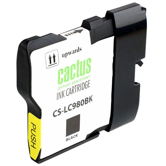 Cactus CS-LC980BK, Black картридж струйный для Brother DCP-145C/165C/MFC-250C/290C