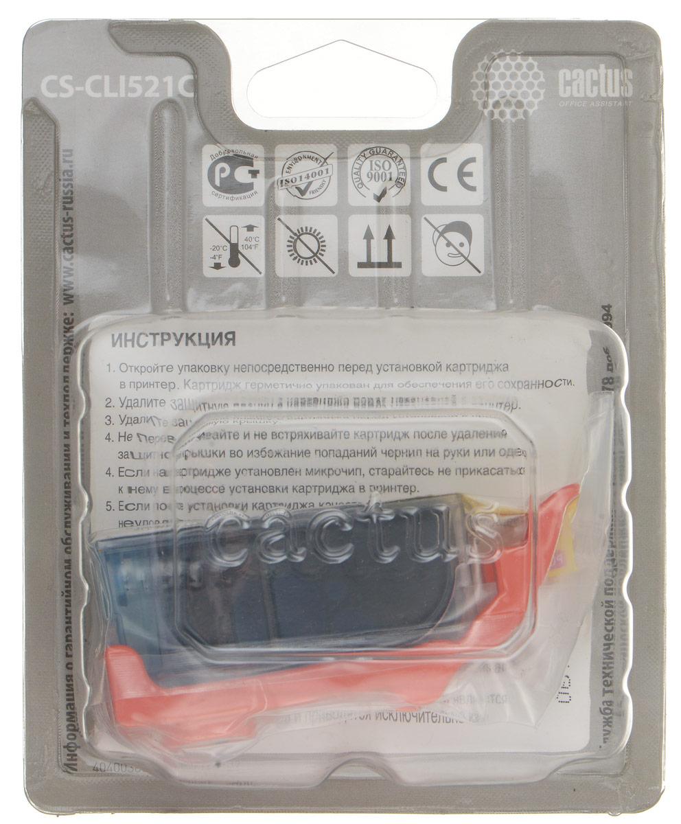 Cactus CS-CLI521C, Cyan картридж струйный для Canon MP540/MP550/MP620/MP630/MP640/MP660CS-CLI521CКартридж Cactus CS-CLI521C для струйных принтеров Canon. Расходные материалы Cactus для печати максимизируют характеристики принтера. Обеспечивают повышенную четкость изображения и плавность переходов оттенков и полутонов, позволяют отображать мельчайшие детали изображения. Обеспечивают надежное качество печати.