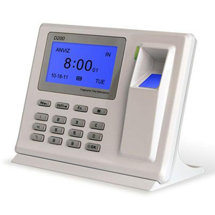 IVUE Anviz D200 автономный терминал учета рабочего времениD200Настольный терминал учёта рабочего времени IVUE Anviz D200 разработан специально для предприятий малого или среднего бизнеса. Уникальный дизайн позволяет крепить терминал как на стену, так и расположить его на столе. Информацию о сотруднике можно получить в любое время благодаря подключению по USB к любому компьютеру. Встроенный аккумулятор осуществляет полную автономную работу терминала. Уникальный дизайн, c возможностью расположения как на стене, так и на столе. Высокоскоростной 32-разрядный процессор с низким энергопотреблением. Данные передаются в реальном времени. Подключение по USB с функцией Plug & Play. Имеется функция резервного питания благодаря встроенному аккумулятору на 1100 мАч. Считыватель: AFOS300 Optical Sensor Методы идентификации: отпечаток, ID+отпечаток, ID+пароль, отпечаток+пароль Питание: DC 5V; 0.2A-0.3A Аккумулятор: 1100 мАч / 6 часов Температура / влажность: -10-40°С / 20-80%