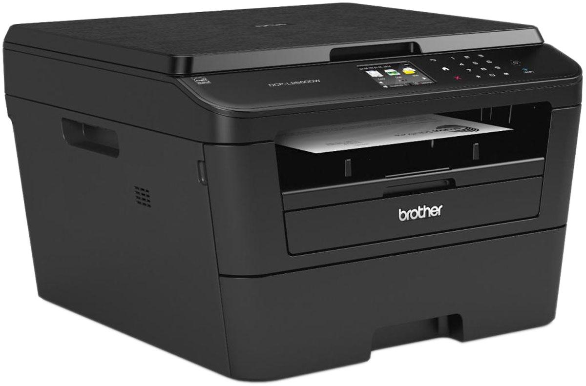 Brother DCP-L2560DW МФУDCPL2560DWR1Компактный многофункциональный черно-белый лазерный принтер Brother DCP-L2560DW способен удовлетворить все требования, предъявляемые офисами, в которых кипит работа. Он позволяет печатать, копировать и сканировать документы, а также оснащен дополнительными функциями, которые помогут вам экономить время и средства.Работайте быстрее и эффективнее благодаря этому компактному устройству 3 в 1, оснащенному всеми необходимыми функциями печати, сканирования и копирования. Кроме того, благодаря дополнительным тонер-картриджам повышенной емкости и функции автоматической двусторонней печати МФУ DCP-L2560DW поможет вам снизить расходы на печать. Чтобы уменьшить расходы на печать, используйте входящий в комплект поставки тонер-картридж на 1200 страниц. МФУ оснащено сенсорным дисплеем диагональю 6,8 см, с помощью которого вы сможете подключиться к Интернету и легко настроить общий доступ к МФУ.