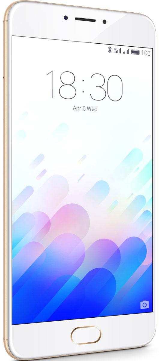 Meizu M3 Note 32GB, Gold WhiteL681H-32-GOWHСмартфон Meizu М3 Note обладает превосходным дизайном и изготовлен с использованием высококачественных компонентов. Благодаря корпусу из авиационного алюминиево-магниевого сплава 6000-й серии, в сочетании с современной технологией анодизации, Meizu М3 Note предлагает владельцу испытать незабываемые тактильные ощущения. С невероятной комбинацией 2.5D стекла на передней панели и цельнометаллическим обтекаемым дизайном корпуса сзади, смартфон М3 Note удалось сделать не только восхитительно красивым, но и крайне удобным в использовании. Совершенно новая философия дизайна, с соблюдением концепции полной симметрии, придают внешнему виду устройства легкость и элегантность.Основанный на технологии TSMC НРС+, Helio P10 имеет лучший коэффициент энергоэффективности EER среди всех прочих процессоров MediaTek. Процессор автоматически регулирует частоту CPU и GPU для снижения энергопотребления, при сохранении максимальной производительности, достаточной для выполнения текущих задач. 8 ядер Cortex-A53 обеспечивают невероятно плавную работу интерфейса, а также выполнение ресурсоемких задач, например, 3D-игр. Быстрый 64-битный графический ускоритель Mali-T860 отвечает за вывод оптимальной картинки на дисплей смартфона.Благодаря годами накопленному опыту в разработке смартфонов, Meizu удалось сделать корпус М1 Note на 0.5 мм тоньше, чем Meizu М2 Note, оснастив смартфон батарейкой емкостью на 32% больше, чем у предшественника! За счет уникальной комбинации оптимизированной оболочки FLYME и энергоэффективности процессора Helio Р10, Meizu М3 Note показывает невероятные результаты по длительности работы от одной зарядки: до 2 дней работы в активном режиме использования, до 17 часов просмотра видео без остановки, до 36 часов прослушивания музыки.Meizu М3 Note использует флагманскую технологию разработки материнской платы в 10 слоев, чтобы уменьшить пространство, занимаемое ее элементами и уменьшить габариты платы, сделав ее максимально компактной