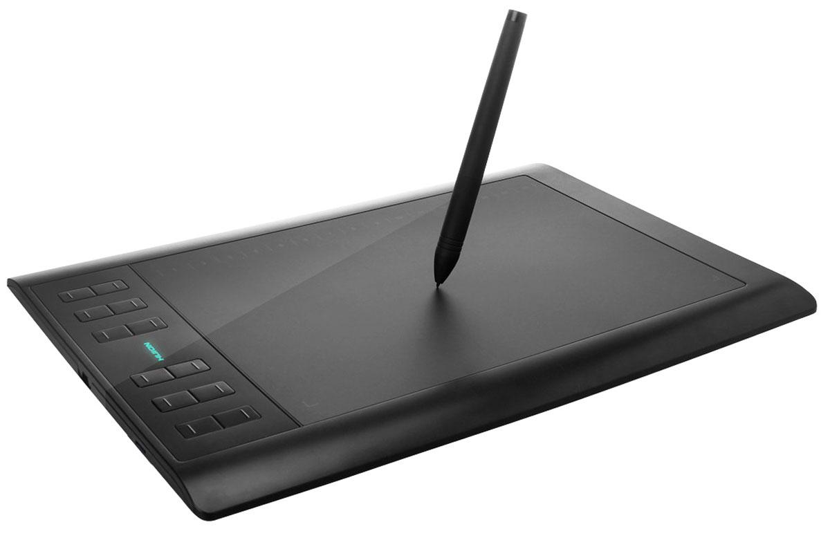 Huion 1060 Plus, Black графический планшет1060PlusHuion 1060 Plus - графический планшет профессионального уровня. Данная модель доступна в формате A5 wide. Она имеет 8 настраиваемых кнопок ExpressKeys и 16 настраиваемых софт-кнопок. У этого планшета в два раза больше градаций чувствительности к нажатию, чем у любого другого в данном ценовом сегменте - 2048 уровней. Разрешение устройства составляет 5080 lpi. Это и другие возможности превращают планшет в отличное орудие, для реализации ваших идей. Технология: электромагнитный резонанс Рабочая область: 10 x 6.25 дюйма (254 x 159 мм) Максимальная скорость отклика 233 RPS Количество клавиш Express Keys: 8 Софт-клавиши: 16 Уровни нажатия: чувствительность 2048 уровня Минимальная высота работы пера: 10 мм Длина кабеля USB: 1,5 м Поддержка карт памяти: microSD, microSDHC, microSDXC до 64 ГБ Системные требования: Windows: 8 / 8 x64 / 7 / 7 x64 / Vista / XP / XP x64 / 2000 Mac OS X: версии 10.4 и выше.