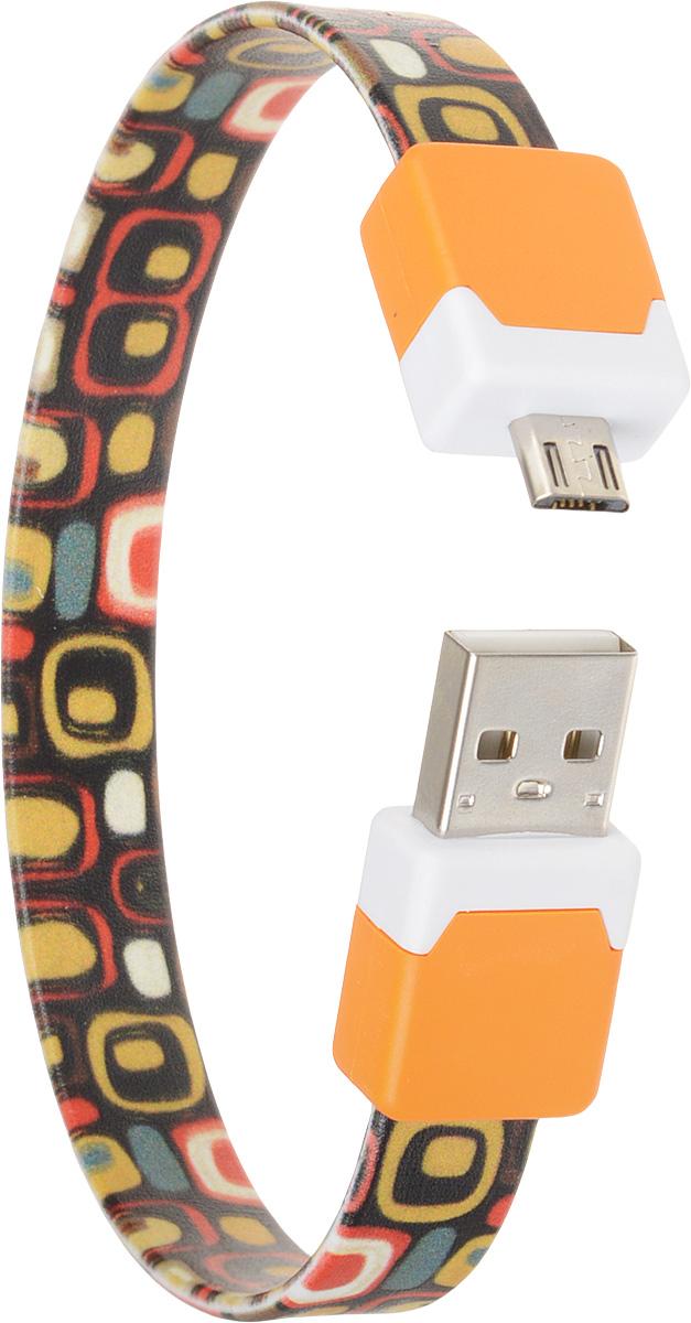 DVTech CB135 multicolor, Orange кабель USB-micro USB 2.0 25 смDVTech CB135 multicolor_оранжевыйКабель DVTech CB135 предназначен для зарядки портативных устройств с разъемом micro-USB от стандартного USB порта и обмена данными между устройствами. Кабель выполнен из высококачественных материалов, в корпусах разъемов размещены магнитные вставки, благодаря чему его можно носить как браслет на запястье.
