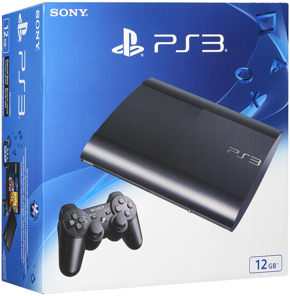 Игровая приставка Sony PlayStation 3 Super Slim (12GB) + игра