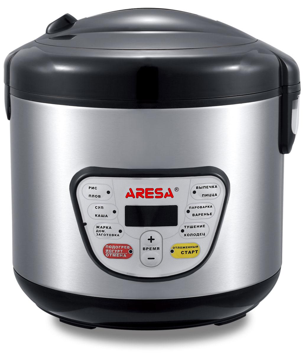 Aresa AR-2002 мультиваркаAR-2002Мультиварка Aresa AR-2002 имеет светодиодный LED-дисплей и вместительную чашу объемом 5 литров с керамическим покрытием. Удобная ручка для переноски позволит осуществлять удобное перемещение прибора. Множество различных функций и режимов приготовления позволит готовить именно те блюда, которые вам нравятся. Регулировка времени приготовления варьируется от 5 минут до 6 часов. В комплект входят полезные аксессуары для приготовления пищи, а книгу рецептов можно бесплатно скачать с сайта производителя.