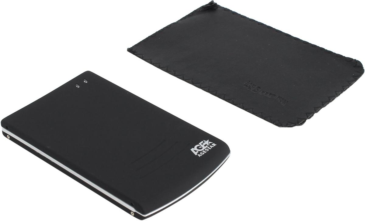 "Корпус для жесткого диска AgeStar SUB2O5 usb2.0 to 2.5""hdd SATA, Aluminium"