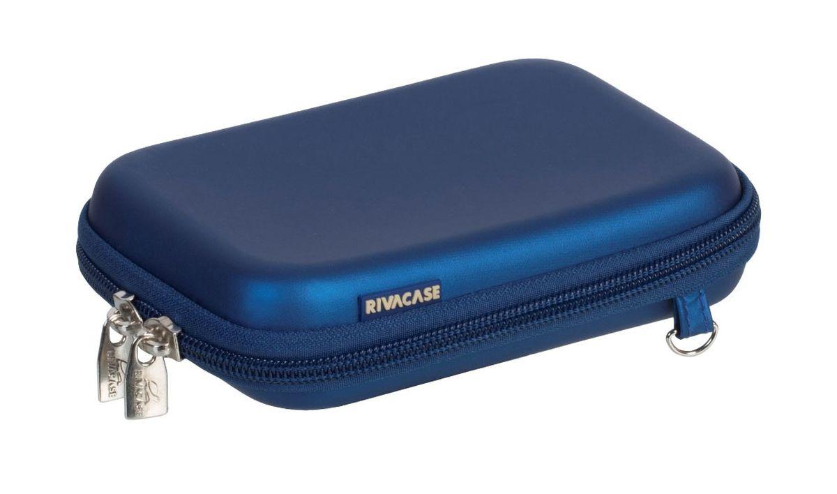 Riva 9101 (PU) HDD Case, Light Blue чехол для жесткого диска6660Чехол Riva 9101 (PU) HDD Case для внешнего жесткого диска (HDD). Подходит для большинства 2.5 HDD. Чехол создан из высококачественного материала EVA, он надежно защищает от внешних воздействий, случайных ударов и царапин, а также от пыли и влаги. Предусмотрена возможность крепления на поясном ремне. Устройство надежно крепится внутри чехла специальной фиксирующей лентой, кроме того предусмотрены дополнительные внутренние карманы для кабеля, карт памяти и аксессуаров. Двойная застежка молния для удобного доступа к устройству.