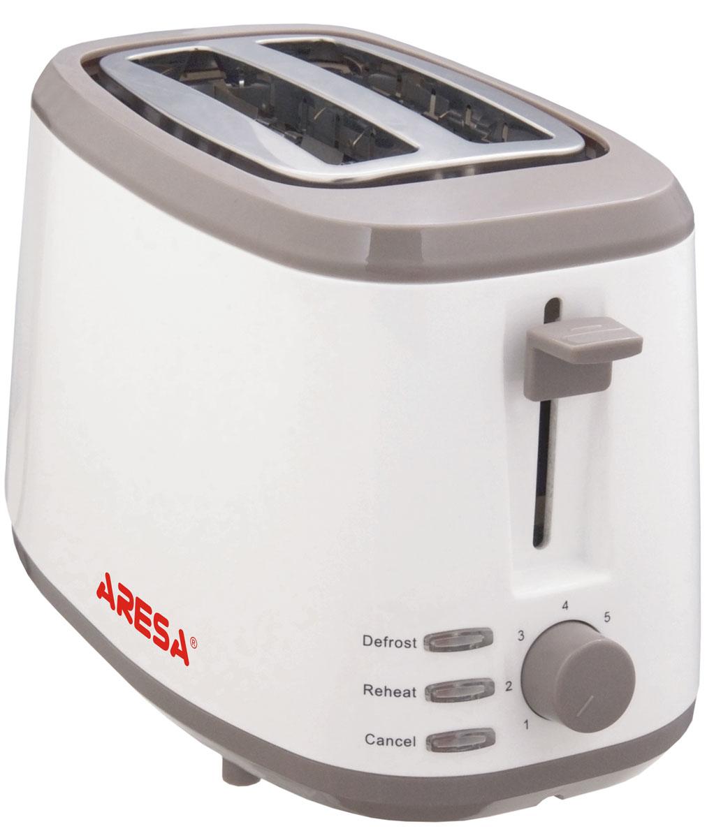 Aresa AR-3003 тостерAR-3003Тостер Aresa AR-3003 имеет надежный и прочный корпус из термостойкого пластика. Вы можете регулировать степень поджаривания хлеба (доступно 6 режимов) по вашему вкусу. Прибор также имеет функцию отмены/подогрева/разморозки с LED индикацией. Съемный поддон для крошек и отсек для хранения шнура обеспечит комфортное и безопасное использование прибора.
