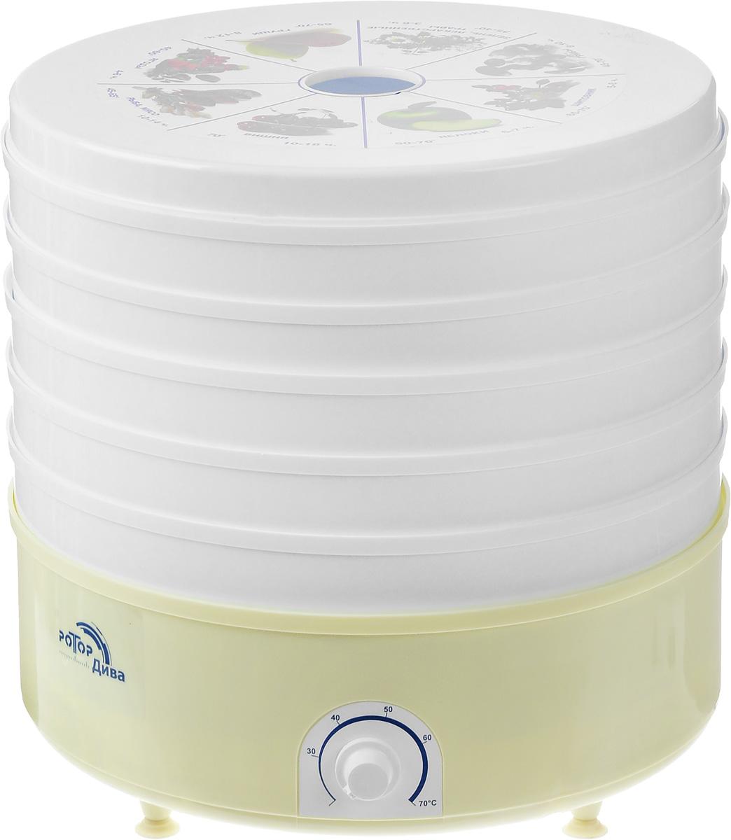 Ротор Дива СШ 007 (007-04), White Yellow сушилка для овощей Дива 007