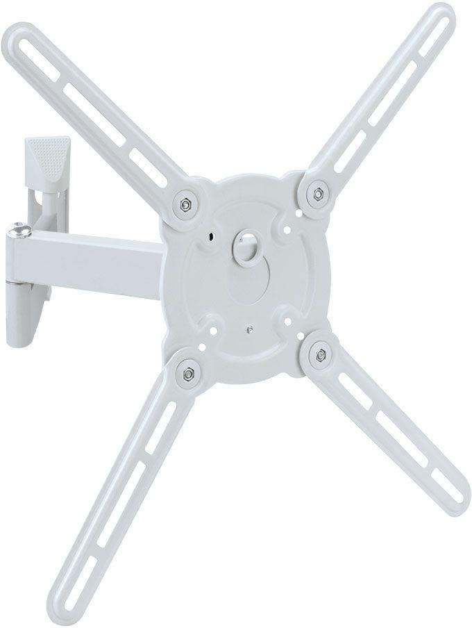 Kromax Atlantis-15, White кронштейн для ТВATLANTIS-15 WhiteKromax Atlantis-15 - это настенный наклонно-поворотный кронштейн для установки и монтажа вашего ТВ. Кронштейн поможет вам не только сэкономить пространство в помещении, но и установить ваш ТВ на необходимую, удобную для вас высоту, а также стильно и оригинально оформить свое жилище.