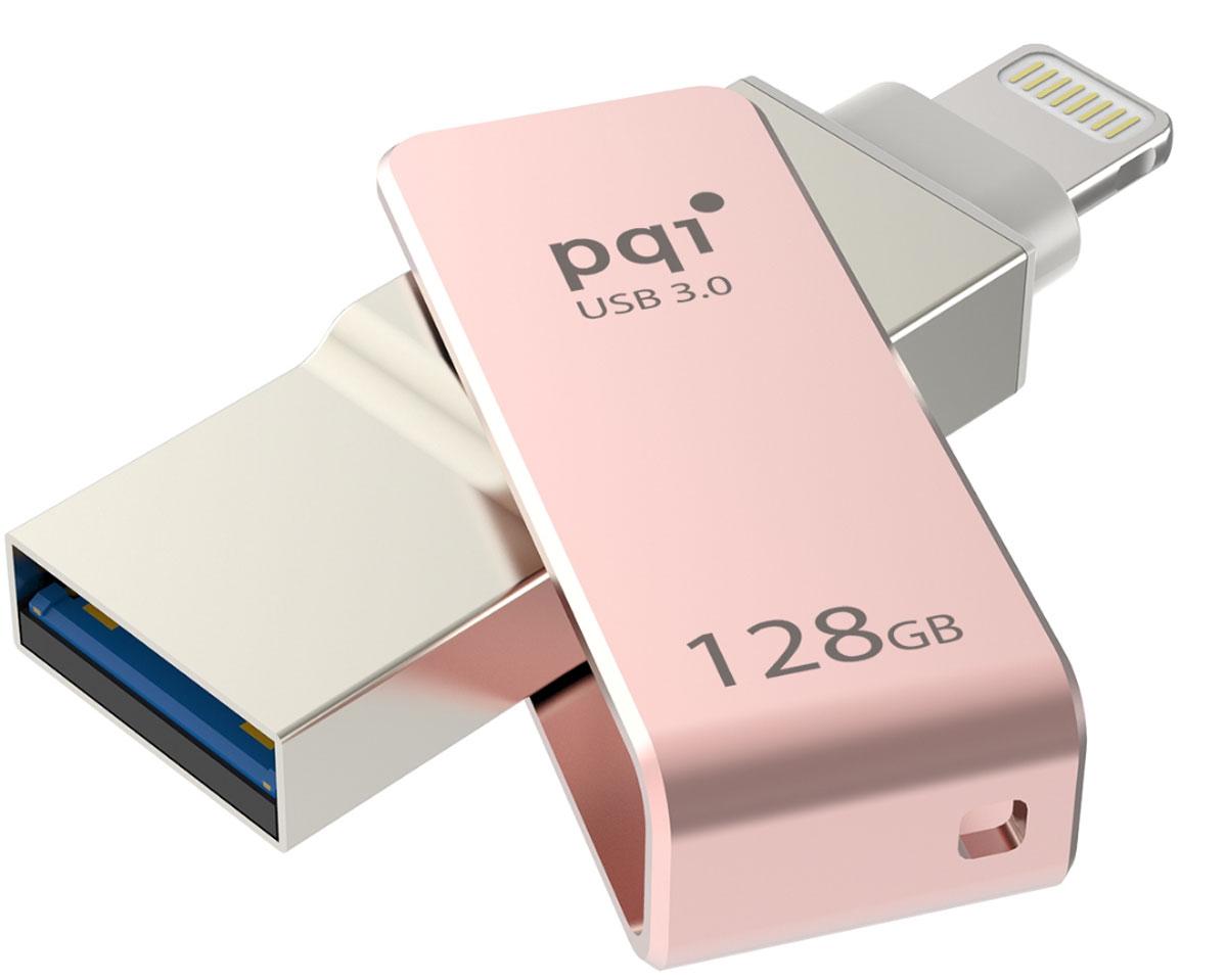 PQI iConnect mini 128GB, Rose Gold флеш-накопитель 6I04-128GR3001