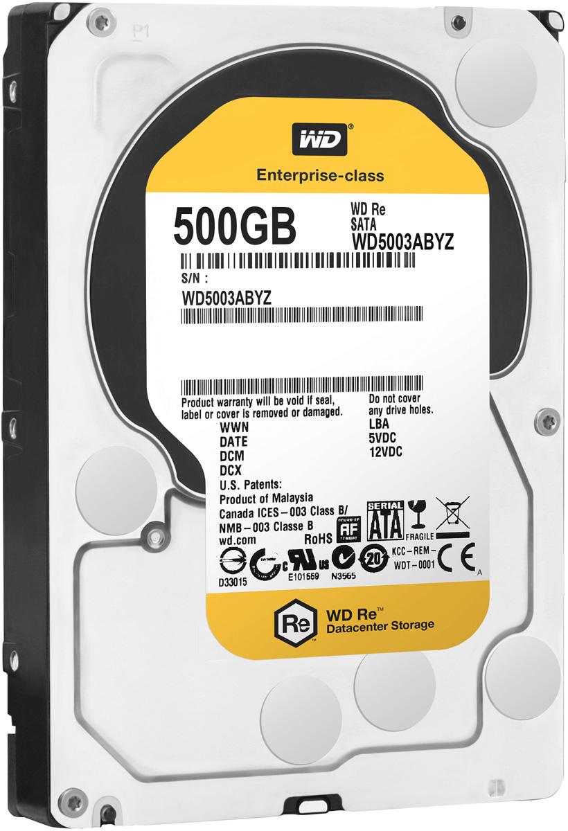 WD Re 500GB внутренний жесткий диск (WD5003ABYZ)WD5003ABYZМодель WD Re, созданная с применением передовых технологий, обеспечивающих стабильно высокую скорость работы в самых различных системах, и обладающая нагрузочной способностью в десять раз выше, чем накопители для настольных ПК - это рабочая лошадка семейства накопителей WD для ЦОД. Накопитель превосходно подходит для дисковых массивов, для которых требуются самые надежные диски. Благодаря своему высокому быстродействию, емкости и надежности модель WD Re превосходно подходит для хранилищ данных, систем добычи данных и высокоскоростных вычислительных систем. Этот накопитель, рассчитанный на обработку до 550 ТБ данных в год, имеет самую высокую нагрузочную способность среди 3,5-дюймовых жестких дисков и может работать быстро и надежно в любых ЦОД. Этот скоростной накопитель с MTBF до 2 млн. часов отличается высочайшей надежностью при круглосуточной работе в самых требовательных системах хранения. Система позиционирования головок с...