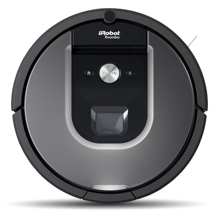 iRobot Roomba 960 робот-пылесосR960Робот-пылесос iRobot Roomba 960 предназначен для полностью автономной уборки всех комнат на одном этаже. Система построения карты местности, оперативная навигация, умение распознавать лестницы, работа до 75 минут на одном заряде аккумулятора и самостоятельная подзарядка по мере необходимости и еще многое другое – это ваш умный Roomba 960. Улучшена функция виртуальной стены, которая позволят оградить определенные зоны помещения, чтобы защитить от работающего робота миски для пищи и воды домашних животных, а также другие вещи, которые вы держите на полу и не хотите убирать при работе пылесоса. Два режима ограждения в одном устройстве: линейное и радиальное ограждение. Модель Roomba 960, как и модели предыдущей 800-й серии, для уборки используют два резиновых валика-скребка, что уменьшает наматывание волос, шерсти и облегчает очистку после уборки. iRobot Roomba 960 оснащён беспроводным модулем Wi-Fi для подключения к домашней сети. В мобильном приложении...