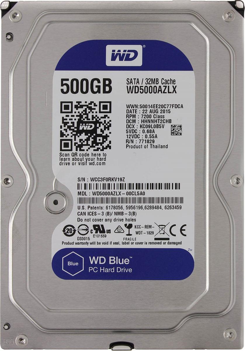 WD Blue 500GB внутренний жесткий диск (WD5000AZLX)