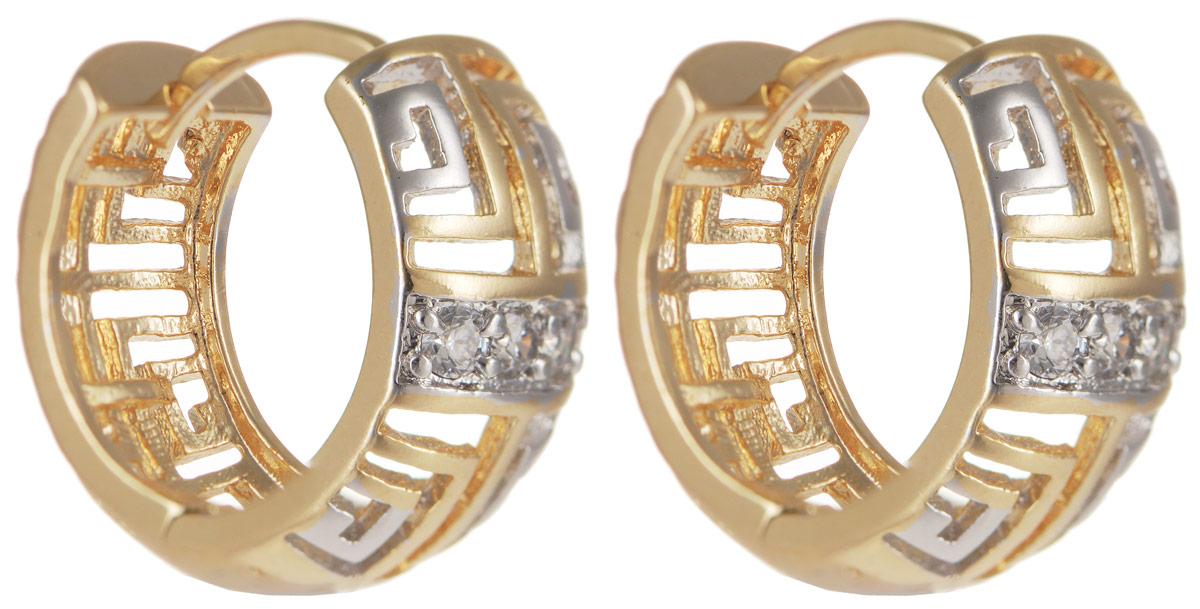 Серьги Taya, цвет: золотистый, серебристый. T-B-11636T-B-11636-EARR-GL.SILVERОригинальные серьги Taya выполнены из бижутерного сплава и оформлены вставками из циркона. Изделие оснащено практичным замком- конго. Серьги Taya блестяще подчеркнут ваш стиль и помогут внести разнообразие в привычный образ.