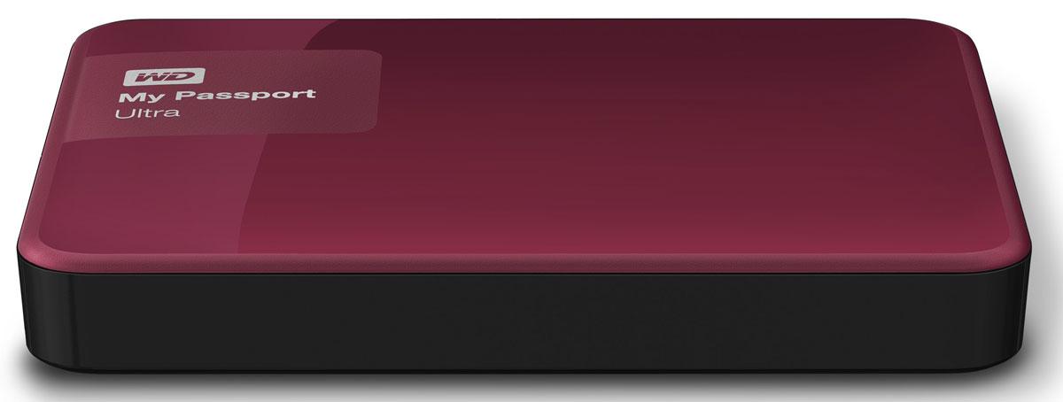 WD My Passport Ultra 3TB, Berry внешний жесткий диск (WDBNFV0030BBY-EEUE)