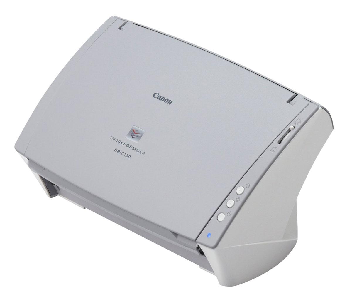 Canon DR-C130 (6583B003) сканер6583B003Высокоскоростной интуитивный Canon DR-C130 повышает производительность офисов и рабочих групп благодаря полному набору профессионального программного обеспечения и тесной интеграции с облачной средой, что позволяет с легкостью оцифровывать данные и обмениваться информацией.Высокоскоростное сканирование до 30 стр/мин и 60 изображений/мин достигается как в режиме цветного, так и черно-белого сканирования, благодаря инновационному контактному датчику изображения Canon CMOS и технологии светодиодов высокой яркости. Возможность сканирования двусторонних документов за один проход увеличивает скорость документооборота, тогда как устройство автоматической подачи документов на 50 листов позволяет поддерживать высокий уровень производительности. Энергоэффективность DR-C130 до 50% выше, чем у его конкурентов на рынке.Передняя панель управления позволяет с легкостью останавливать, запускать и продолжать сканирование одним нажатием кнопки. Вы также можете зарегистрировать задания для сканирования с помощью программного обеспечения CaptureOnTouch и назначить их сканирование кнопке запуска, чтобы обеспечить быстрое выполнение частых операций сканирования. CaptureOnTouch реализует полностью автоматический режим, который применяет наиболее подходящие настройки для сканирования, обеспечивая экономию вашего времени.Canon DR-C130 работает с различными материалами – от карточек с тиснением до листов длиной до 3 м. Дизайн лотка позволяет сканировать с закрытым, открытым или полуоткрытым лотком для выхода, обеспечивая универсальность в условиях ограниченности места на рабочем столе. Надежность сканирования также достигается благодаря удобной системе сброса после определения двойной подачи, которая позволяет игнорировать и продолжить выполнение заданий сканирования в особых случаях, например, при сканировании конверта или документа с наклейкой. Canon DR-C130 обладает разнообразными функциями обработки изображений, каждый раз помогая достигать исключит