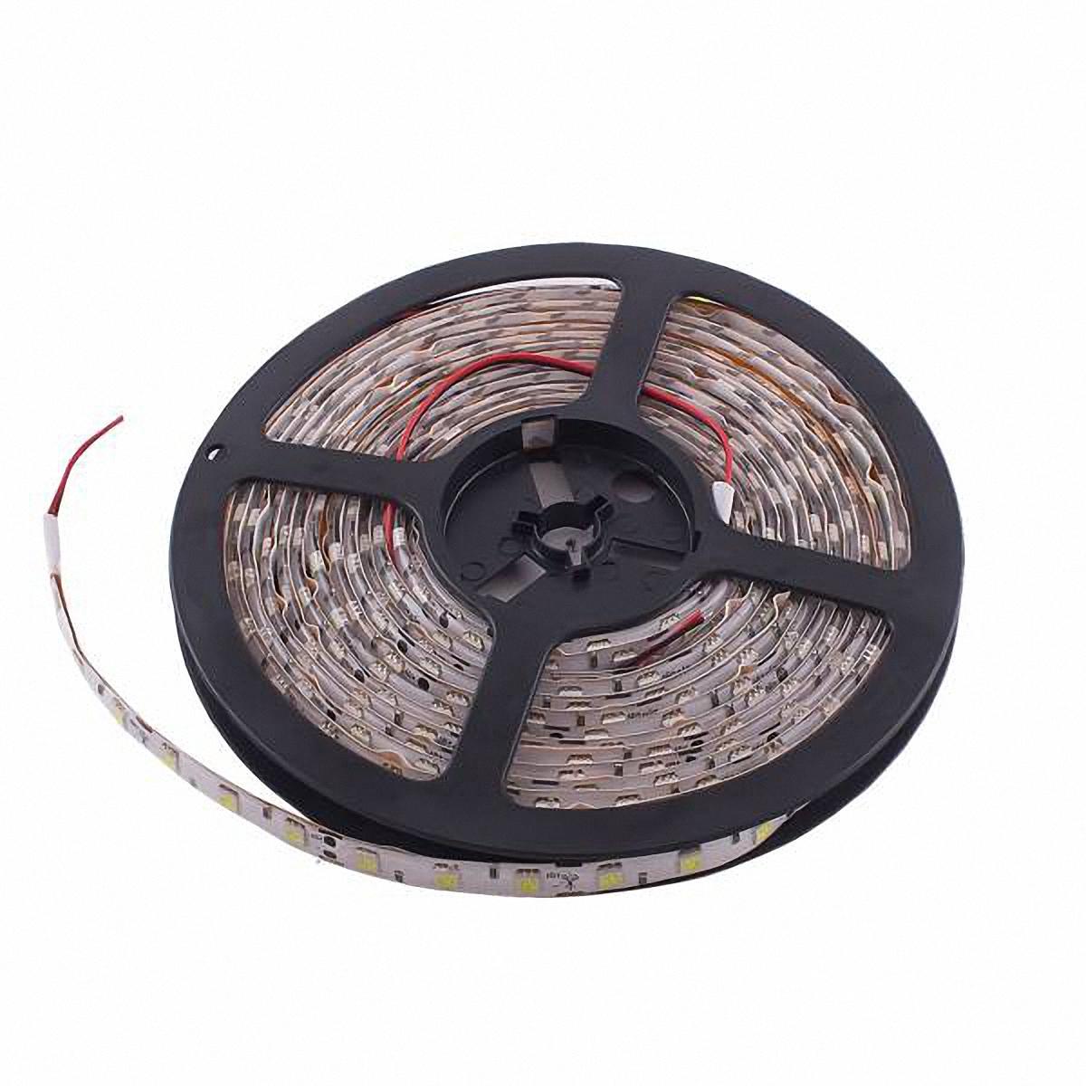 Skyway Лента светодиодная 300 SMD диодов. S03201026S03201026Входное напряжение: 12V. Длина: 500 см. Цвет основы: белый. Цвет катушки: синий.