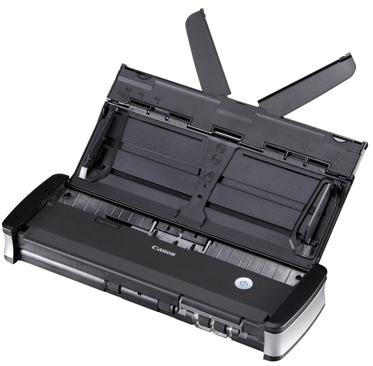 Canon P-215II (9705B003) сканер9705B003В офисе, дома или в движении — стильный сканер Canon P-215II предлагает удобство подхода plug-and-scan (включил и сканируй). Это самый быстрый из портативных сканеров со скоростью двустороннего сканирования до 30 изображений в минуту Сканер Canon P-215II — самое производительное устройство в своем классе. Благодаря скорости двустороннего сканирования до 30 изображений в минуту (с питанием от USB-кабеля) и устройству автоматической подачи документов на 20 листов пользователи могут быстро сканировать документы в офисе, дома или во время поездки. Сканер P-215II отличается мощной и надежной конструкцией, которая позволяет обрабатывать до 500 документов в день. Благодаря продуманной компактной конструкции сверхлегкий сканер P-215II идеально подходит для использования как в поездках, так и в офисе. Он занимает небольшую площадь и без проблем умещается в дорожных футлярах и на очень ограниченной поверхности рабочих столов. Настоящий plug-and-scan...
