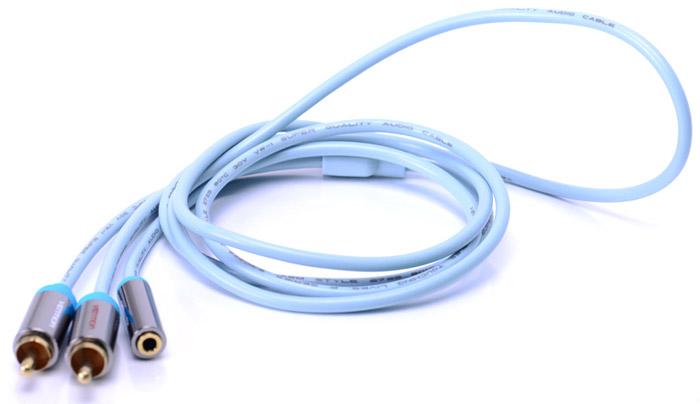 Vention VAB-R01-S100 Jack 3,5 mm F/2RCA M, Grey аудиокабель (1 м)VAB-R01-S100Vention VAB-R01-S100 Jack 3,5 mm F/2RCA M, Grey - предназначен для передачи аналоговых стереозвуковых сигналов между аудио, аудио-видео и (или) компьютерными устройствами или их компонентами. Вы можете подключить компьютер (ноутбук), MP3-плеер, или смартфон, к например гарнитуре, активным акустическим системам и прочей мультимедийной технике. Продукция соответствует следующим сертификатам: RoHS, CE, FCC, TIA, ISO
