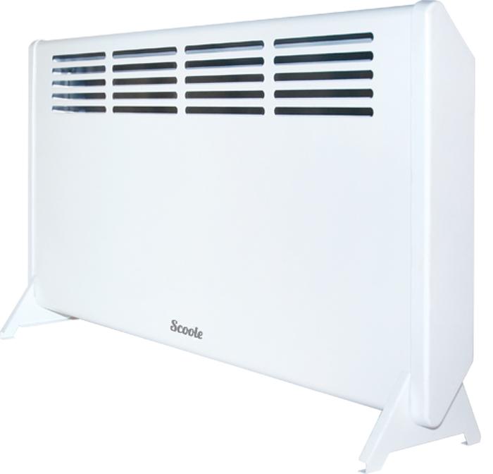 Scoole SC HT CM2 1000 WT конвекторSC HT CM2 1000 WTБытовой электрический конвектор Scoole SC HT CM2 1000 WT предназначен для обогрева и создания комфортной атмосферы в помещении в холодное время года. Данный нагревательный прибор удобен и прост в установке, эффективен и экономичен в использовании в связи с минимальными потерями электроэнергии, повышенной теплоотдачей и максимально комфортным распределением теплового потока.