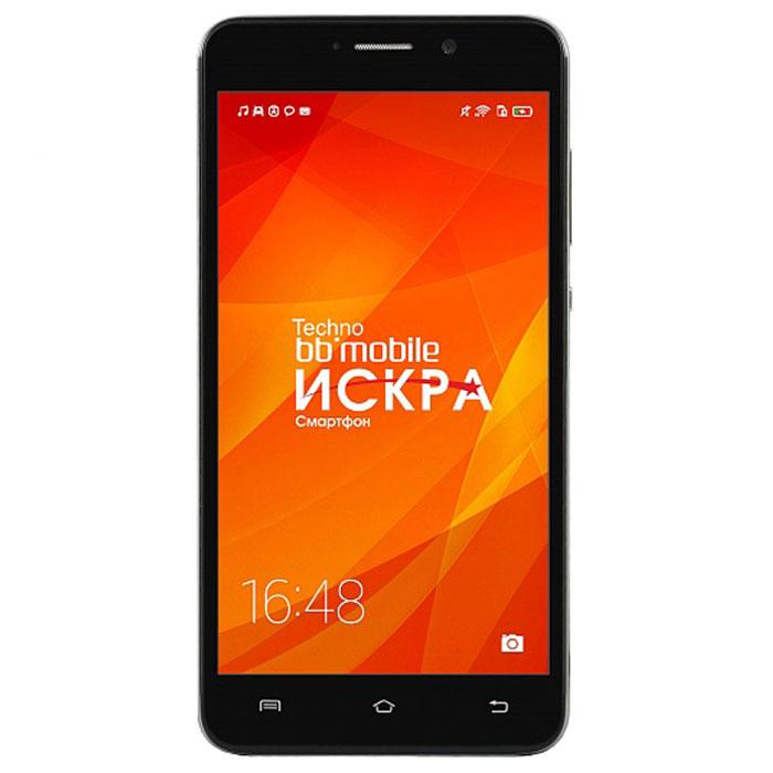 BB-mobile Techno Искра 5.0 3G X595BT, BlackX595BTBB-mobile Techno Искра 5.0 3G X595BT - современный смартфон под управлением актуальной ОС Android 5.1 Lollipop с производительным процессором и пятидюймовым сенсорным IPS-дисплеем.Данная модель станет незаменимым помощником, делая доступнее социальные сети, мультимедийный контент, мобильное телевидение, чтение электронных книг, работу с офисными документами, GPS-навигацию и многое другое. Этот стильный аппарат не только дарит владельцу обширные возможности для работы и творчества, но и подчеркивает его неповторимую индивидуальность.В основе модели лежит достаточно мощный чипсет MediaTek MT6580 (4 ядра), работающий в связке с 1 Гб оперативной памяти. Ресурсов хватит и для игр, и для просмотра HD-видео с YouTube, и для плавной работы интерфейса Android. Экран 5 выполнен по технологии IPS. Она обеспечивает отличную цветопередачу, высокую контрастность изображения, а также широкие углы обзора.В BB-mobile Techno Искра 5.0 3G X595BT установлена качественная 8-мегапиксельная камера с автофокусом и светодиодной вспышкой, так что фото и видео можно делать как днем, там и в темное время суток. Ну а для создания автопортретов предусмотрена фронтальная камера на 5 мегапикселей.Модель поставляется с актуальной версией Android – 5.1 Lollipop. Обновленный интерфейс в духе Material Design, более высокая производительность (по сравнению с предыдущими версиями ОС), улучшенная безопасность и другие преимущества – все это реализовано в смартфоне BB-mobile Techno Искра.Поддержка двух SIM-карт позволяет пользоваться услугами двух сотовых операторов одновременно или, например, комбинировать личный и рабочий номера в одном смартфоне. При этом девайс оснащен довольно мощной батареей – на 2500 мАч. Одного ее заряда достаточно на полный день работы под нагрузкой.Телефон сертифицирован EAC и имеет русифицированный интерфейс меню и Руководство пользователя.