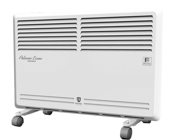 Royal Clima REC-PE1000M электрический конвекторREC-PE1000MКонвектор Royal Palermo Econo - это воплощение экономичности, универсальности и оптимального сочетания функций и режимов. Эффективная работа по обогреву осуществляется благодаря нагревательному CТИЧ- элементу FAST-ROYAL Heat Technology. В приборе данной серии предусмотрены все необходимые функции и опции, такие как защита от перегрева (безопасный нагрев лицевой панели), высокий класс электрозащиты, точный механический термостат с возможностью регулировки температуры. Компактные размеры и экономичное энергопотребление делают прибор идеальным для эксплуатации в небольших помещениях, а классический дизайн позволит легко вписать конвектор в любой интерьер. Увеличенная длина шнура питания: 1,5 метра Высококачественное порошковое покрытие, устойчивое к выцветанию и царапинам