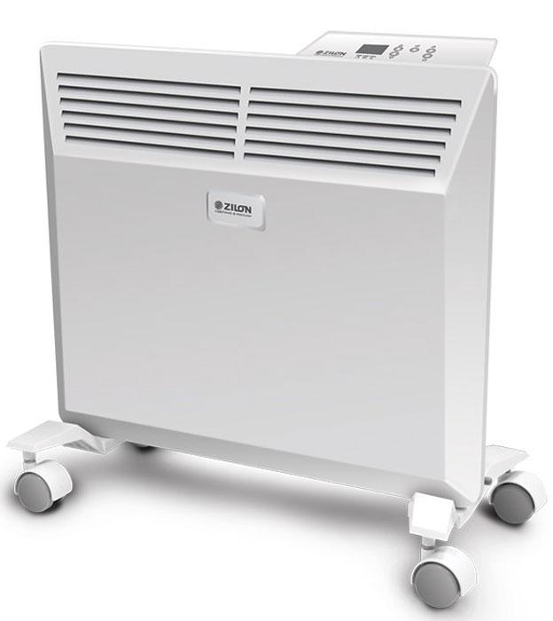 ZILON ZHC-1000 E3.0 электрический конвекторZHC-1000 E3.0Электрический конвектор ZILON ZHC-1000 E3.0 - это современный, надежный, мобильный и экономичный обогреватель. Компактные размеры делают конвектор ZILON ZHC-1000 E3.0 идеальным решением для обогрева жилых помещений, офисов, квартир. Работа конвектора ZILON ZHC-1000 E3.0 основана на принципе естественной конвекции: холодный воздух поступает внутрь обогревателя через отверстие в нижней части и, проходя через нагревательный элемент, уже нагретый воздух выходит через жалюзи, расположенные на передней панели обогревателя. Конвектор оснащен электронной панелью управления.Особая форма корпуса конвектора улучшает конвекцию горячего воздуха за счёт расширяющегося кверху воздушного каналаФункция отключения конвектора при отклонении от вертикали сверх нормы гарантирует полную безопасность пользователя. А новый доработанный конструктив шасси исключает случайное опрокидывание прибораЦельнолитная конструкция Х-образного элемента, выполненная по особой технологии, имеет ребристую структуру, что сводит к минимуму перегрев оборудования и увеличивает срок службы прибораВысокоточный электронный термостат контролирует с точностью до 1°С и поддерживает комфортную температуру в помещенииСовременный внешний вид позволяет гармонично вписать конвектор в любой интерьер, белоснежная панель с декоративным тиснением подчеркивает лаконичный стиль прибораС влагостойким исполнением корпуса прибора IP24 прибор можно использовать в помещениях с повышенной влажностью и обилием брызгУдобная в эксплуатации, интуитивно понятная панель управления облегчает использование прибораВстроенный таймер позволяет адаптировать конвектор под потребности пользователя: есть возможность задать временной диапазон работы конвектора