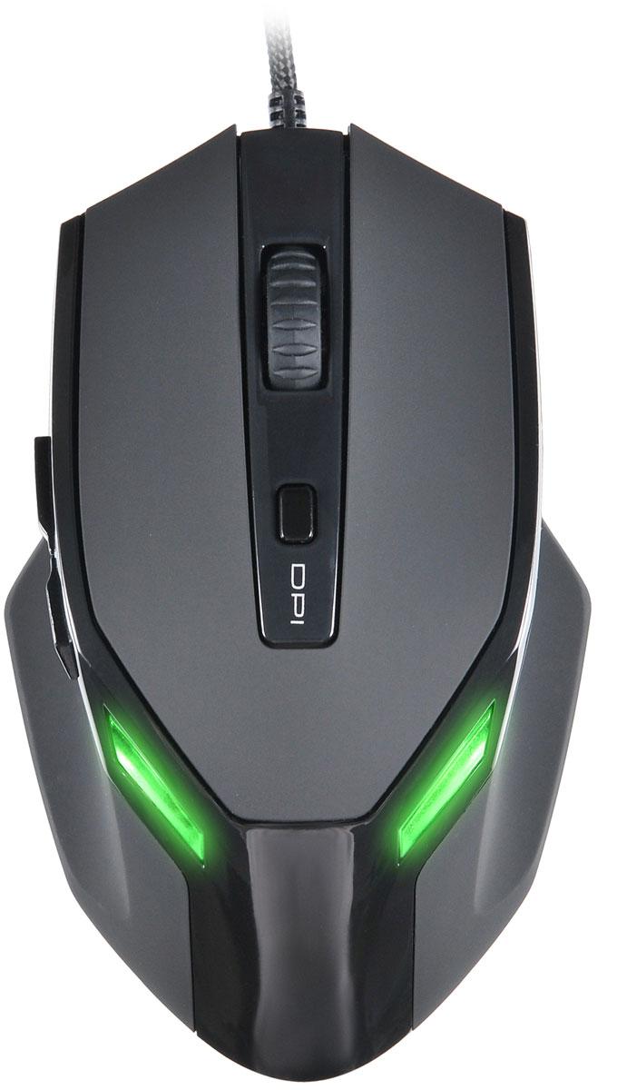 Oklick 835G, Black мышь игровая359392Мышь Oklick 835G имеет эргономичный дизайн, позволяющий с комфортом проводить долгое время за игрой. Эффектная подсветка придает мыши индивидуальность. Кабель имеет прочную, устойчивую к истиранию оплетку. Не требует установки драйверов.