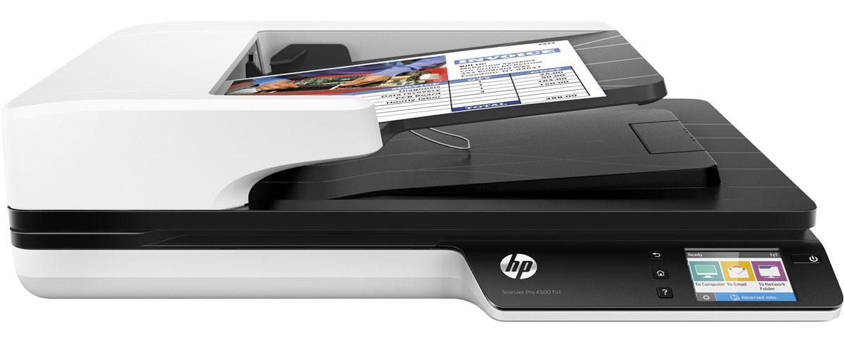 HP ScanJet Pro 4500 fn1 сканер (L2749A)L2749AHP ScanJet Pro 4500 fn1 - продвинутый сетевой сканер. Рекомендуемая норма составляет 4000 страниц в день с использованием функции двустороннего сканирования. Используйте сенсорный экран для отправки цифровых документов по беспроводной сети или с помощью Wi-Fi Direct. Используйте подключение Gigabit Ethernet, чтобы отправить отсканированные изображения на электронную почту, в сетевую папку или на компьютер. Приложение HP JetAdvantage Capture позволяет выполнять сканирование напрямую на мобильные устройства, а также редактировать и сохранять полученные файлы. Встроенный веб-сервер позволяет отслеживать задания и управлять ими, а также использовать средства безопасности. Передача отсканированных изображений по сети осуществляется с помощью протоколов безопасности. Чтобы отправить их на мобильное устройство, воспользуйтесь технологией Wi-Fi Direct. Быстрое и надежное сканирование каждой страницы Функция двустороннего сканирования позволяет...