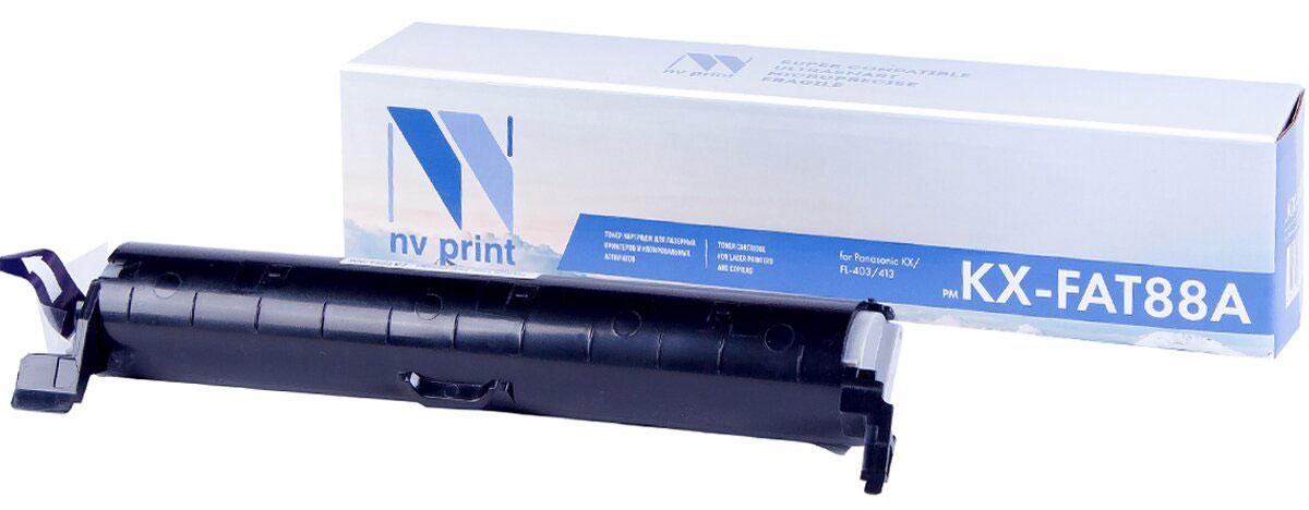 NV Print NV-KXFAT88A, Black тонер-картридж для Panasonic KX-FL403/413NV-KXFAT88AСовместимый лазерный картридж NV Print KXFAT88A для печатающих устройств Panasonic - это альтернатива приобретению оригинальных расходных материалов. При этом качество печати остается высоким. Картридж обеспечивает повышенную чёткость чёрного текста и плавность переходов оттенков серого цвета и полутонов, позволяет отображать мельчайшие детали изображения. Лазерные принтеры, копировальные аппараты и МФУ являются более выгодными в печати, чем струйные устройства, так как лазерных картриджей хватает на значительно большее количество отпечатков, чем обычных. Для печати в данном случае используются не чернила, а тонер.