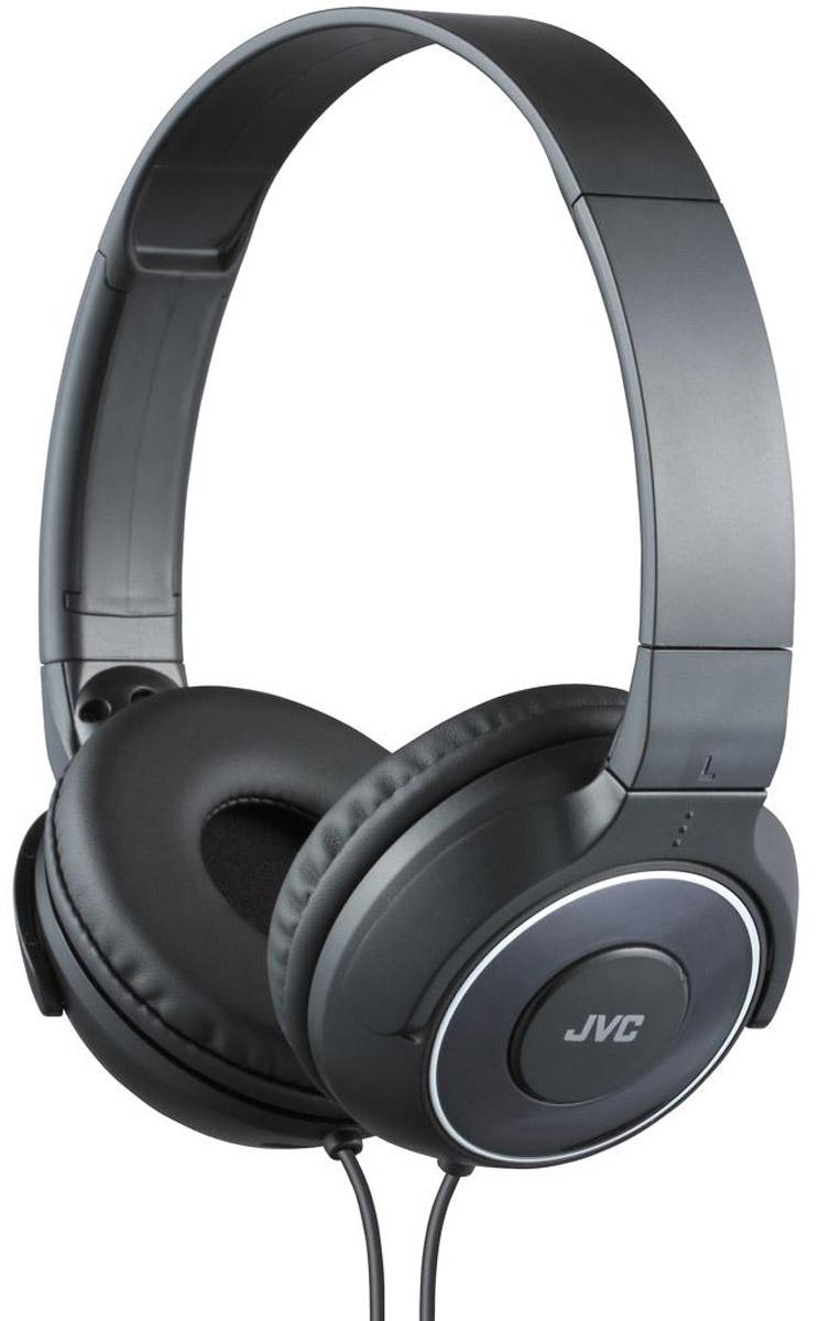 JVC HA-S220-В, Black наушникиHA-S220-BПортативные накладные наушники JVC HA-S220-В с уникальным дизайном имеют превосходное качество звука благодаря фазоинверторным портам и высококачественной 30 мм динамической головкой с ниодимовыми магнитами. Удобные и мягкие амбушюры сделаны для максимального комфорта и качественной звуко-изоляции. Прочный кабель длиной 1,2 метра оснащен позолоченным тонким штекером L-типа, также совместимым с iPhone.