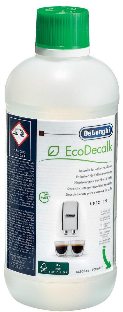 DeLonghi DLSC001 500ML декальцинатор5513292801Средство очистки от накипи DeLonghi Set Ecodecalk X500ML DL. Подходит для все кофемашин DeLonghi. Гарантирует постоянство вкуса кофе и увеличивает срок службы кофемашины. Предназначено для 4 циклов декальцинации.