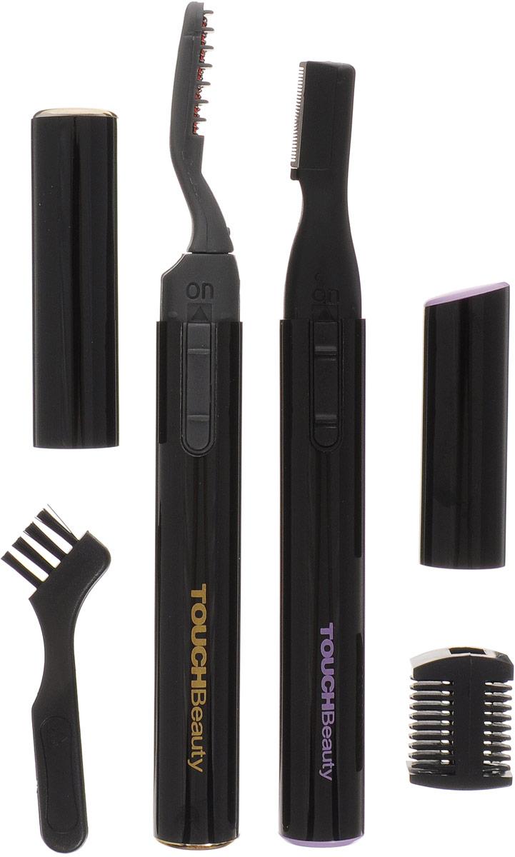 Косметический набор Touchbeauty AS-1301AS-1301_черныйКосметический набор Touch Beauty AS-1301 для ухода за ресницами и бровями.Плойка для ресниц со световым индикатором нагрева поможет завить реснички без малейшего риска повредить их. Триммер с двусторонним гребнем позволит придать бровям желаемую форму, также может использоваться для сбривания и стрижки волос на других участках тела, включая волосы на голове и зону бикини.Элементы питания (1,5 В тип ААА) в комплект не входят.