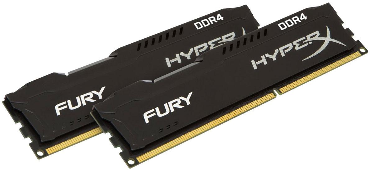 Kingston HyperX Fury DDR4 DIMM 8GB (2х4GB) 2400МГц комплект модулей оперативной памяти (HX424C15FBK2/8)HX424C15FBK2/8Модули памяти HyperX FURY DDR4 автоматически разгоняются до максимальной заявленной частоты и обеспечивают максимальную производительность для системных плат с чипсетами Intel серии 100 и X99. Это недорогое решение для использования с 2-, 4-, 6- и 8-ядерными процессорами Intel повышает скорость редактирования видео, 3D-рендеринга, компьютерных игр и AI-процессинга. Его стильный низкопрофильный теплоотвод с характерным дизайном FURY сразу подчеркнет оригинальный внешний вид вашей системы. HyperX FURY DDR4 - это первая линейка продукции, предлагающая автоматический разгон до максимальной заявленной частоты. Получите максимальную скорость без необходимости ручной настройки. Низкое энергопотребление HyperX FURY DDR4 обеспечивает пониженное выделение тепла и высокую надежность. Благодаря низкому напряжению (1,2 В), снижается потребление энергии, что обеспечивает отсутствие нагрева и бесшумную работу ПК. Выделитесь из толпы и придайте своей...