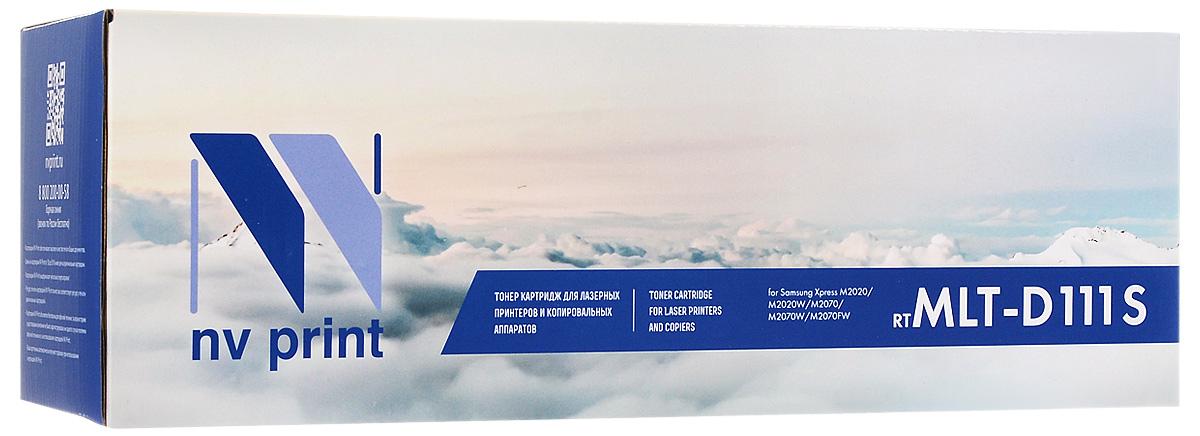 NV Print MLT-D111S, Black тонер-картридж для Samsung SL-M2020/W/2070/W/FWMLT-D111SСовместимый лазерный картридж NV Print для печатающих устройств Samsung - это альтернатива приобретению оригинальных расходных материалов. При этом качество печати остается высоким. Картридж обеспечивает повышенную чёткость чёрного текста и плавность переходов оттенков серого цвета и полутонов, позволяет отображать мельчайшие детали изображения.Лазерные принтеры, копировальные аппараты и МФУ являются более выгодными в печати, чем струйные устройства, так как лазерных картриджей хватает на значительно большее количество отпечатков, чем обычных. Для печати в данном случае используются не чернила, а тонер.