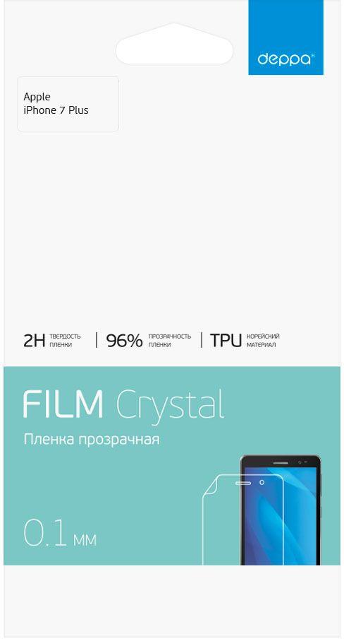 Deppa защитная пленка для Apple iPhone 7 Plus, Clear61424Защитная пленка Deppa для Apple iPhone 7 защитит экран вашего устройства от царапин. Пленка изготовлена из двухслойного материала TPU, изготовленного в Корее. Защищает всю поверхность экрана. Обладает свойством самовосстановления.